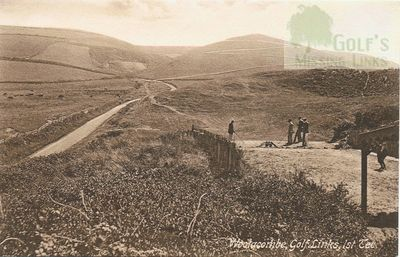 Woolacombe Bay Golf Club, Mortehoe, Devon. On the first tee at Woolacombe.