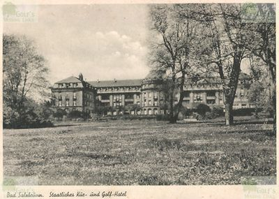 Bad Salzbrunn Golfplatz. Postcard from the 1920/30s for the Hotel