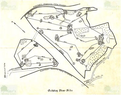 Chemnitzer Golf Club, Plaue-Flöeha. The golf course layout 1928.