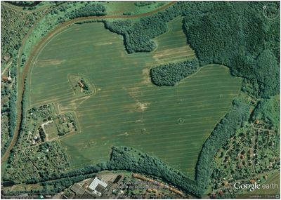 Chemnitzer Golf Club, Plaue-Flöeha. The golf course on the 2012 Google Map.