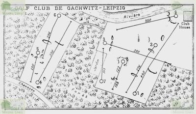 Gaschwitz Golf Club, East Germany. Layout of the course in 1928.