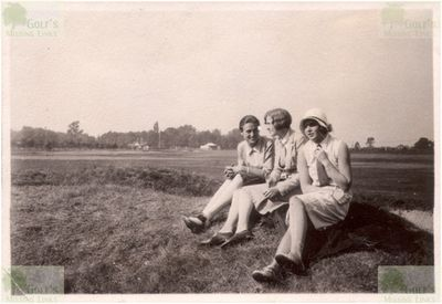 Gaschwitz Golf Club, East Germany. Relaxing on the golf course in 1928