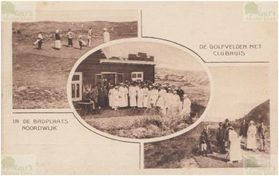 Nordwijk Golf Club. Postcard showing the clubhouse and course.
