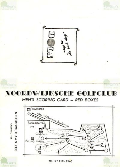 Nordwijk Golf Club. Layout of the revised golf course 1960s.