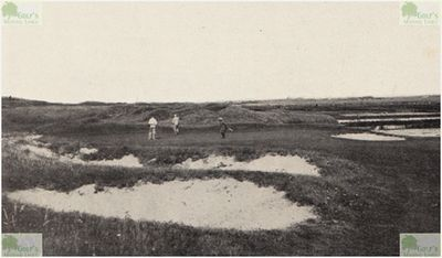 Nordwijk Golf Club, Netherlands. The sixth green in 1938.