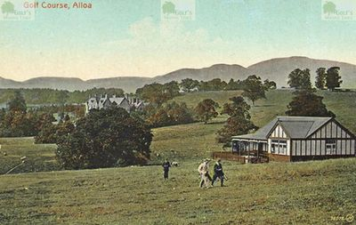 Alloa Golf Club, Arnsbrae Course, Clackmananshire. Alloa Golf Course at the time of WW1.