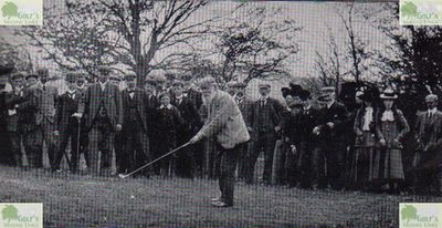 Biggar Golf Club, Heavyside Course. Old Tom Morris at the opening of the new course in April 1901.