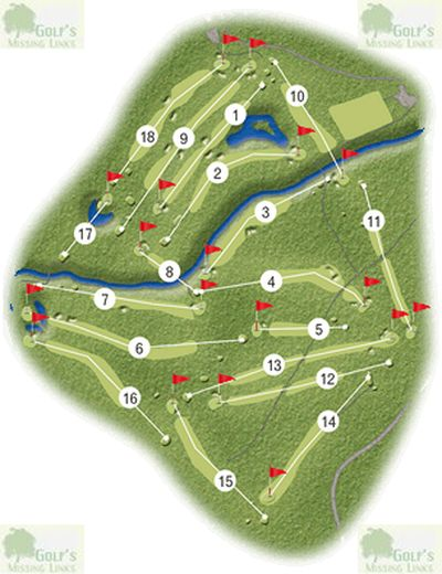 Brunston Castle Golf Club, Dailly, Ayrshire. Layout of the Brunston Castle golf course.