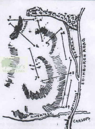 Carlops Golf Club, Borders. Course layout.