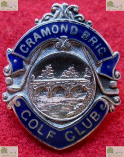 Cramond Brig Golf Club, Cammo, Edinburgh. Lapel badge for Cramond Brig Golf Club from the mid-1920s.