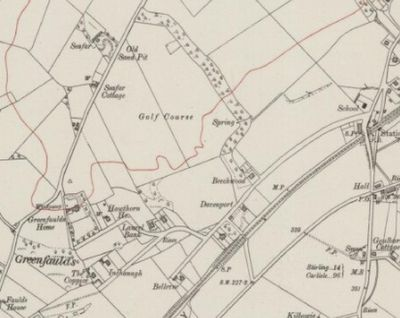 Cumbernauld Golf Club, Greenfaulds Course, Lanarkshire. Ordnance Survey Map from 1920 showing the golf course.