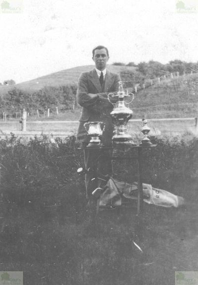Dundonald Golf Club, Gailes by Irvine, Ayrshire. Robbie Craig with the Colville Cup.