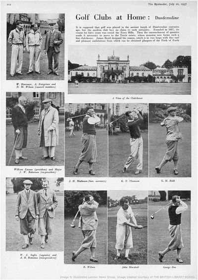 Dunfermline Golf Club, Fife. Article from The Bystander July 1937.