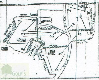 Dunfermline Golf Club. The 1894 course layout.