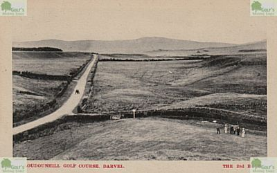 Loudon Hill Golf Club, Ayrshire. Postcard showing the second hole.