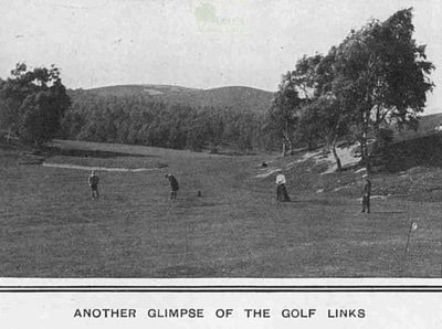 Rothiemurchus Golf Club, Aviemore, Highland. Article from The Tatler April 1910.