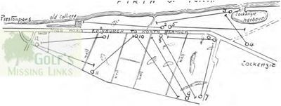 Thorntree Golf Club, Prestonpans. Layout of the twelve hole course.
