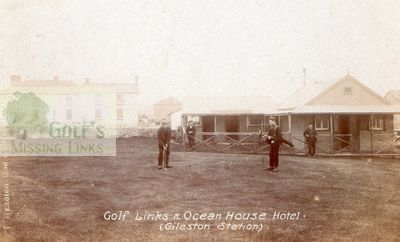 Barry Golf Club showing the early clubhouse.
