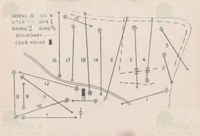Barry Golf Club, The Leys, Gileston. The 18-hole course layout 1930s.