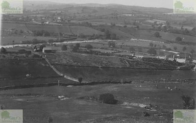 Corwen Golf Club, Denbighshire. The golf course in the early years.