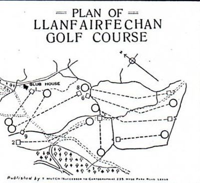 Llanfairfechan Golf Club, Conwy. Course layout.