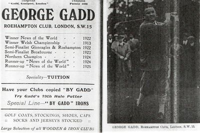 Towyn-on-Sea Golf Club, Gwynedd. George Gadd former professional at Towyn.