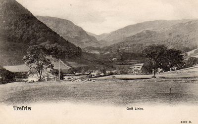 Trefriw and Llanrwst Golf Club, Conwy. Postcard of the course in 1904.