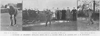 Bramshot Golf Club, Hampshire. Professional match played in November 1907.