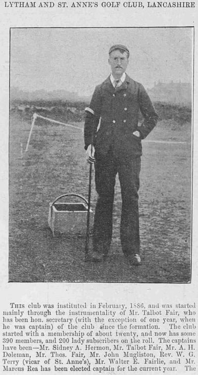 Lytham and St. Annes Golf Club, Mayfield Road Course. Report on the course from February 1893.